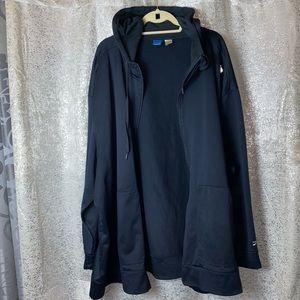 REEBOK full zip Hoodie top Men's size 5XL Black